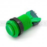 Arcade Push Button 35mm - concave - green