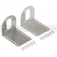1084 - Pololu Stamped Aluminum L-Bracket Pair for 37D mm Metal Gearmotors