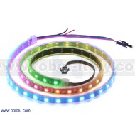 2549 - Addressable RGB 60-LED Strip, 5V, 1m (WS2812B)