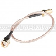 Interface Cable - RPSMA Female to RPSMA Male (25cm)