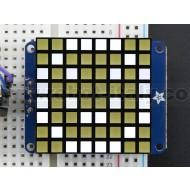 "Small 1.2"" 8x8 Ultra Bright Square White LED Matrix + Backpack"