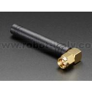 Right-angle Mini GSM/Cellular Quad-Band Antenna - 2dBi SMA Plug