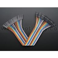 """Premium Female/Female Jumper Wires - 20 x 6"""" (150mm)"""