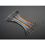 "Premium Male/Male Jumper Wires - 20 x 3"" (75mm)"