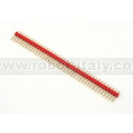 Male Strip 2,54  - 40 pin - Red