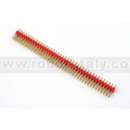 Male Strip 2,54  Dual In Line -2x40 pin - Red