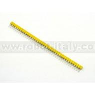 40 pin SIP Sockets - Yellow
