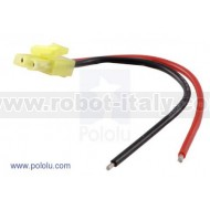 2178 - Mini Tamiya Plug with 10cm Leads, Female