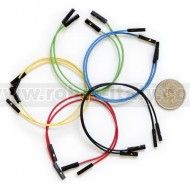 "Jumper Wires Premium F/F - 6"" 10pcs"