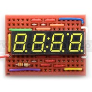 7 Segment led display - 4 digits - CA - yellow