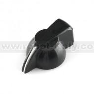 """Black Chicken Head Knob for 0.25"""" shaft"""