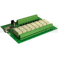 USB-OPTO-RLY816 - USB Module with 8 optoisolated inputs and 8 relay 16A