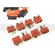 FullPower - DEANS Male + Female Plugs + heat-shrink tube (4+4pcs)