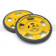Yellow ABS wheel for SBGM2/3/8/9 Gearmotors