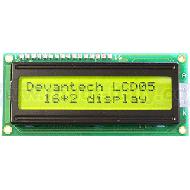 LCD05-16x2-Green -  Serial/I2C Display 16x2 - Green Background