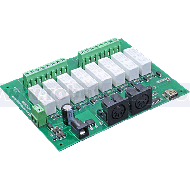 MIDI Relay/Dimmer Output Module - 8 Relays - 0 Dimmers