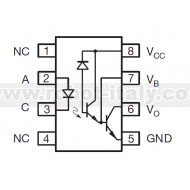 6N138 - Optocoupler with Darlington