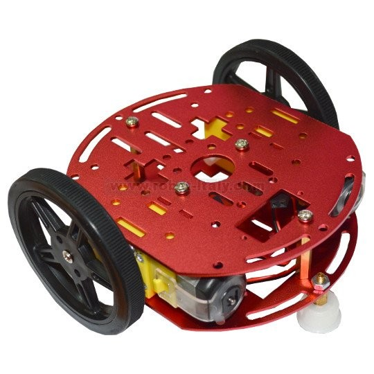 Robot 2wd kit2 metal robot chassis kit with two wheels for Robot motors and wheels