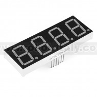 "7-Segment Display - 1"" Tall (Yellow)"