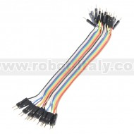 """Jumper Wires - Connected 6"""" (M/M, 20 pack)"""