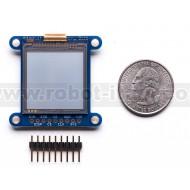 "SHARP Memory Display Breakout - 1.3"" 96x96 Silver Monochrome"