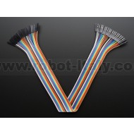 "Premium Female/Female Jumper Wires - 20 x 12"" (300mm)"