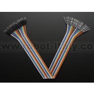 "Premium Male/Male Jumper Wires - 20 x 12"" (300mm)"