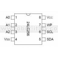 24LC256I I2C EEPROM
