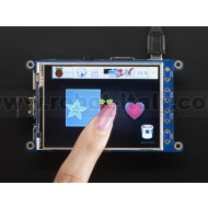 "PiTFT Plus 320x240 3.2"" TFT + Resistive Touchscreen - Pi 2 and Model A+ / B+"
