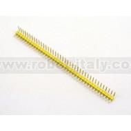 Strip Maschio Passo 2,54 a 90° - 40 pin - Giallo