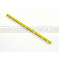 Strip Femmina Tornito Passo 2,54  - 40 pin - Giallo