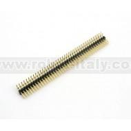 Strip Maschio Passo 2,54  Doppia Fila 90°- 40 pin