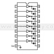 ULN2803A - Array di 8 Transistor Darlington