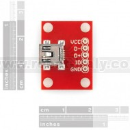 Breakout Board for USB miniB