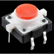 Pulsante da PCB con led incorporato - colore ROSSO