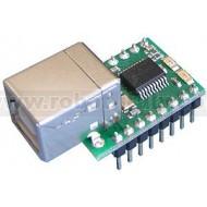USB-GPIO12 - Breakout board USB con PIC18F14K50