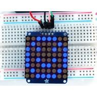"""Adafruit Small 1.2"""" 8x8 LED Matrix w/I2C Backpack - Blue -"""
