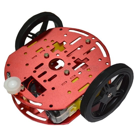 510048 robot 2wd kit2 metal robot chassis kit with two for Robot motors and wheels
