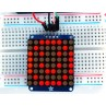 "Adafruit Small 1.2"" 8x8 LED Matrix w/I2C Backpack - Red -"