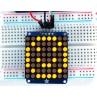 "Adafruit Small 1.2"" 8x8 LED Matrix w/I2C Backpack - Yellow -"