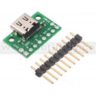 3411- USB 2.0 Type-C Connector Breakout Board (usb07b)