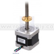 Stepper Motor with 28cm Lead Screw: Bipolar, 200 Steps/Rev, 2.8V, 1.7 A/Phase