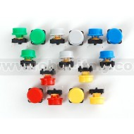 Colorful Round Tactile Button Switch Assortment - 15 pack -