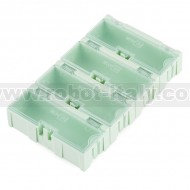 Modular Plastic Storage Box - Medium (4 pack)