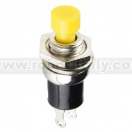 Momentary Button - Panel Mount (Yellow)