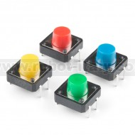 Multicolor Buttons - 4-pack