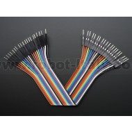 "Premium Male/Male Jumper Wires - 20 x 6"" (150mm)"