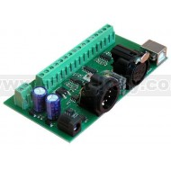 DMX-USB-RX-A8 DMX512, 8-channel Analogue Output Module