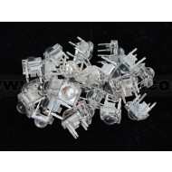Clear 'Piranha' Super-flux RGB (tri-color) LED (25 pack) - Common Anode