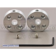 1203 - Pololu Universal Aluminum Mounting Hub for 5mm Shaft Pair